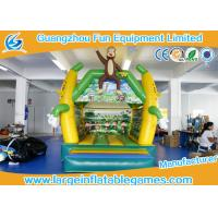 Wholesale 4 * 3 M PVC Tarpaulin Inflatable Air Bouncer Monkey Jumping Area House from china suppliers