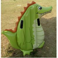 China Dinosour Inflatable Plastic Water Floating or green inflatable Swim Ring for kids on sale
