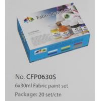 Wholesale Washable Art Painting Colours Fabric Paint Set For Kids 6 X 30ml 6 Colors Per Set from china suppliers