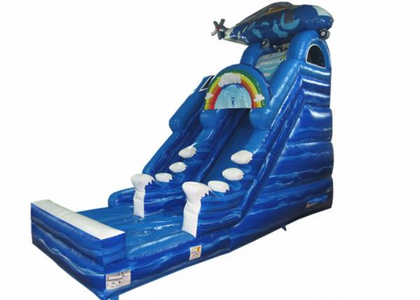 Quality Digital print inflatable Naval Air Force Helicopter standard slide inflatable high dry slide for Children under 15 years for sale