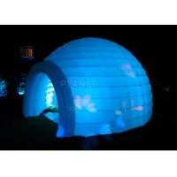 Quality Led Lighting Inflatable Igloo Tent , Oxford Cloth Inflatable Tents For Parties for sale