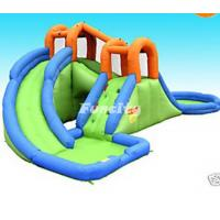 China Combo Long Slide Inflatable Slide Pool With Roof Bouncer House For Sale on sale
