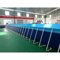 China Silk Printing Blue Portable Inflatable Swimming Pools For Adults on sale