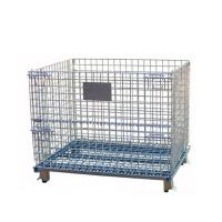 Wholesale Folding And Stackable Wire Baskets / Wire Mesh Container For Recycling Industry from china suppliers