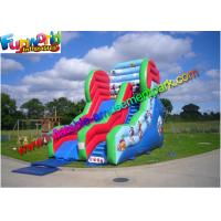 Wholesale Three Line Commercial Inflatable Slide 0.55mm PVC With Air Blower from china suppliers