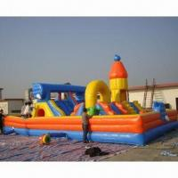 Buy cheap Inflatable Bouncer, Made of PVC Tarpaulin, Fire-resistant, OEM Orders are from wholesalers