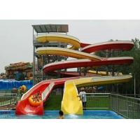 Wholesale Mix Color Commercial Spiral Swimming Pool Slide For Holiday Resort from china suppliers