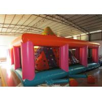 China Colourful Iceberg Floating Climbing Wall , Commercial Inflatable Rock Climbing Wall PVC inflatable climbing wall games on sale