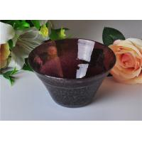 Wholesale OEM 472ml Capacity Bubble Glass Bowl For Scented Candle , Mouth Blown from china suppliers