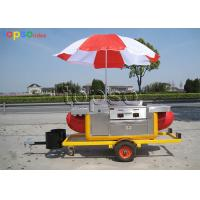 China Fiberglass Steel Mobile Food Trailer Long Life Span For Selling Hot Dog on sale