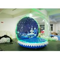 Water Proof Christmas Blow Up Snow Globe Transparent Display LED Lights