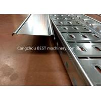Buy cheap Full automatic changeable cable tray plank roll forming machine from wholesalers