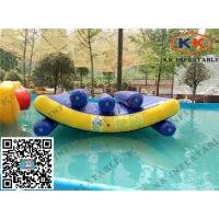 Wholesale Float Jumping Pool Inflatable Toys Triple Lines Water Seesaw Equipment from china suppliers