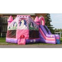 Wholesale New Commercial Inflatable Pink Princess Castle Combo Slide Bounce House Moonwalk from china suppliers