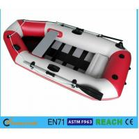Wholesale White And Red Inflatable Float Boat PVC Drift Boat Inflatable Fishing Boat from china suppliers