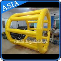 Wholesale PVC Tarpaulin Inflatable Yellow Water Roller for Kids Pool Water Games from china suppliers