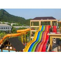 Buy cheap Rainbow Adult Swimming Pool Water Slides For Holiday Resort 2-14 Visitors from wholesalers