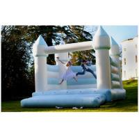 China White 0.55mm PVC Tarpaulins Inflatable Bounce House Castle For Wedding BV CCC on sale