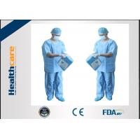 China Unisex SMMS Disposable Scrub Suits V-neck Shirt And Pants For Doctor EO Sterilized on sale