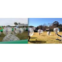 Buy cheap Commercial Red Body Inflatable Zorb Ball / Bubble Soccer Ball Transparent Color from wholesalers