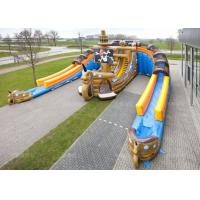 China Custom Adults or Kids Giant Pirate Ship Inflatable Dry Slide on sale