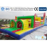 Wholesale Commercial Rainbow Colour Inflatable Obstacle Course Equipment For Kindergarten from china suppliers