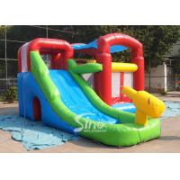 Wholesale Kids inflatable combo water bounce house with pool N water gun made of best pvc tarpaulin from china suppliers