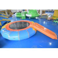 Wholesale Durable PVC Tarpaulin Inflatable Water Bouncer / Trampoline For Pool from china suppliers