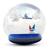 Buy cheap Human Size Snowball Snow Globe / Giant Inflatable Christmas Globe For Festival from wholesalers