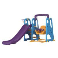 China Honson Indoor Plastic Slide And Swing Set Play Equipment For Kids. on sale