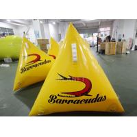 Wholesale Durable Inflatable Marker Buoy 1.0m Yellow / Orange Silk Printing from china suppliers