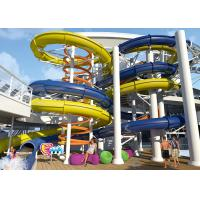 Quality Anti - Static Swimming Pool Water Slides , Free Fall Water Slide Oxidation Resistant for sale