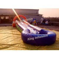 China Funny U Shaped Outdoor Inflatable Water Slide PVC Tarpaulin With Blower on sale