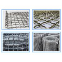 China Stainless Steel Crimped Wire Mesh 10mm 15mm 20mm Opening Size For Construction on sale