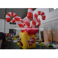 Quality Giant Colorful Inflatable Christmas Stick / Inflatable Candy Cane Stick / for sale
