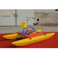 China Durable Water Bike Pedal Boats 3.16 * 1.43 * 1.28 M PE Plastic Material on sale