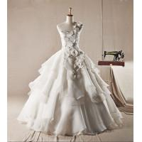 Quality High End Rhinestone layered One Shoulder Wedding Gowns for Spring , Summer , for sale
