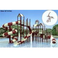 Wholesale Kids Outside Play Aqua Playground Baby Water Slide For Water Park , Galvanization Steel Pipe from china suppliers