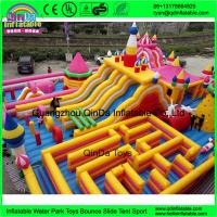 Funny inflatable Circus amusement park,Giant inflatable clown fun city,Inflatable bouncer castle with slides