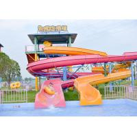 Wholesale Outdoor Spiral Slide Water Pool Slide Playground For Amusement Park from china suppliers