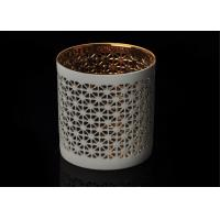 Wholesale Luxury Custom Ceramic Candle Holder Tealight Candle Holder with Hollow Pattern from china suppliers