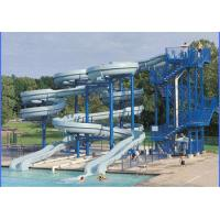 Wholesale Amusement Park Equipments Spiral Fiber Glass Commercial Water Slides Kits from china suppliers