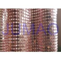 Wholesale 4 Mm Rose Gold Metal Mesh Fabric , Ring Connection Aluminum Brass Mesh Fabric from china suppliers