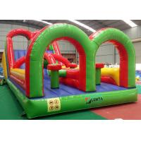 China Colorful Giant Inflatable Obstacle Course Bouncer For Sport Filed on sale