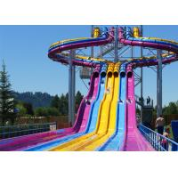 Wholesale Fiberglass Swimming Pool Water Slides , Playground Water Slides For Kids from china suppliers