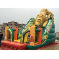 Wholesale Outdoor Kids Amusement Park PVC Animal Slide Leopard Inflatable Ground Slide from china suppliers