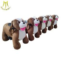 Buy cheap Hansel indoor plush amusement motor bike battery operated animal ride for sales from wholesalers