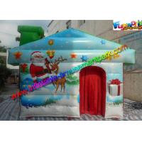 Wholesale Customized Inflatable Christmas Decorations , PVC Inflatable Santa Grotto House from china suppliers