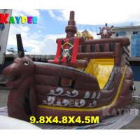 Wholesale Pirate ship combo,inflatable bouncer with slide and obstacle from china suppliers