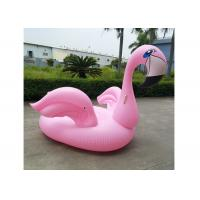 Wholesale 200cm Pink Inflatable Flamingo Floating Island Swim Pool Inflatable Raft Stock Float Bed from china suppliers